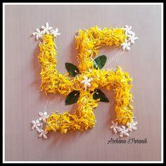 Flower Rangoli For Diwali Simple Flower Rangoli, Rangoli Designs Flower, Small Rangoli Design, Rangoli Ideas, Rangoli Designs Diwali, Rangoli Designs Images, Diwali Rangoli, Beautiful Rangoli Designs, Rangoli With Flowers