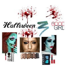"""Halloween Good Girl"" by styledbyjenicole ❤ liked on Polyvore featuring beauty, Manic Panic, Urban Decay, NARS Cosmetics, LORAC and Bobbi Brown Cosmetics"
