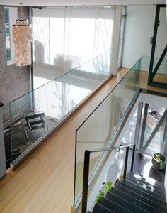 The Power of Sticker Shock Architecture Details, Modern Architecture, Stainless Steel Staircase, Franklin Homes, Stair Railing Design, Narrow House, Open Space Living, Modern Stairs, Glass Floor