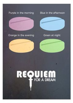 Requiem for a Dream (2000) ~ Minimal Movie Poster by David Peacock