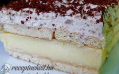 Gesztenyés habos krémes recept fotóval Naan, No Bake Desserts, Vanilla Cake, Cheesecake, Food And Drink, Cookies, Baking, Kuchen, Crack Crackers