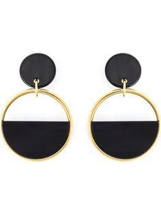 half-circle clip-on earrings