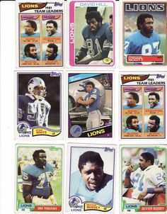 vintage 1980s detroit lions #Football cards from $20.0