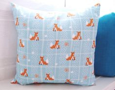 Amazing Fox Print Cushion Geometric Fox and by LilyLovesShopping