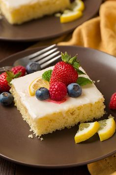 Here you have the ultimate spring and summer sheet cake! This Lemon Sheet Cake is one of the best sheet cakes I've ever had! It's so bright and lemony, it's soft and fluffy and each bite melts away in your mouth! And when you top it with plenty of fresh berries it only gets that much better! With the berries it