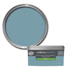 Colours Premium Any Room One Coat Blue Ocean Silk Emulsion Paint 2.5L | Departments | DIY at B&Q