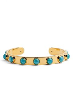 kate spade new york tag along cuff turquoise