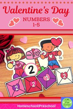 These Valentine's Day Number Lessons are the perfect addition for Math Centers for homeschool/ presc Pre K Activities, Learning Activities, Number Activities, Numbers Preschool, Preschool Activities, Valentine Crafts, Valentines Day, Daycare Crafts, Blog Writing