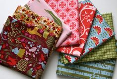 Organic Meadow Collection FAT QUARTER Bundle from by SewFineFabric, $29.00