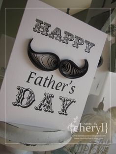 ~ a paper {life}: ~ quilled mustache father's day card - This is FABULOUS!