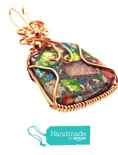 Sea Sediment Jasper Gemstone Copper Wire Wrapped Pendant from Angelleesa Designs https://www.amazon.co.uk/dp/B01KMFVOUM/ref=hnd_sw_r_pi_dp_9kM7xb80NZV15 #handmadeatamazon