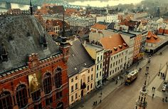 Torun, old town, view from tower, Poland by Agnieszka Kedzierska