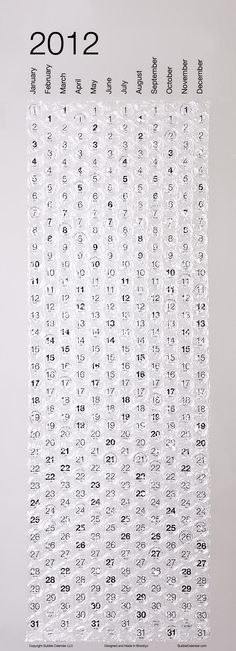 calendario de plástico bolha! *___*   Mindá!