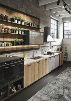 cuisine equipee buffet de cuisine simple chic moderne bois etageres