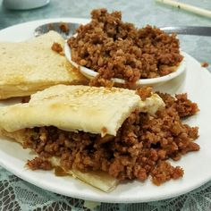 "Shanghainese ""sloppy joes""... minced pork with housemade sesame pastry. Love these. I tend to overfill.   #ShangaineseFood #richmondeats #richmondbc"