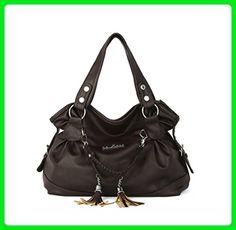 Hynbase Womens Fashion Casual Leather Tassel Tote Handbag Shoulder Bag Coffee - Totes (*Amazon Partner-Link)
