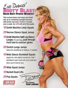 Get your butt in shape ready for that tiny bikini with this intense power workout #leanbodyforher
