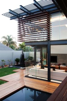 Clean cut lines in the structure and cladding make this luxury home a contemporary focal point.