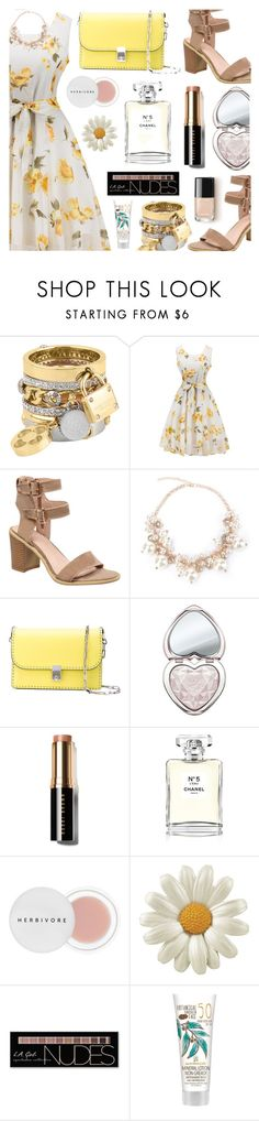 """""""Rosegal"""" by dora04 ❤ liked on Polyvore featuring Henri Bendel, Valentino, Too Faced Cosmetics, Bobbi Brown Cosmetics, Chanel, Herbivore, Charlotte Russe, vintage and rosegal"""