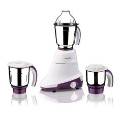 Philips Bia HL7697/00 750-Watt Mixer Grinder with 3 Jars (Royal Purple and White)