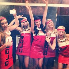 Pin for Later: 59 Creative Homemade Group Costume Ideas Beer Pong Wrap yourself up in red and call it a day!