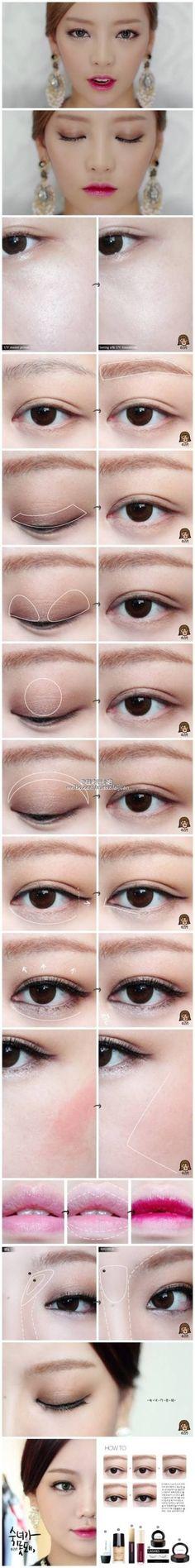 makeup Dewy Makeup, Clean Makeup, Makeup Inspo, Makeup Tips, Korean Wedding Makeup, Eyeliner, Eyeshadow, Ulzzang Makeup, Korean Makeup Tutorials