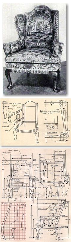 Wing Chair Plans - Furniture Plans and Projects | WoodArchivist.com