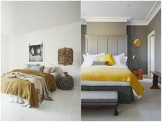 dormitorio-de-matrimonio-dos-ejemplos-de-habitaciones-modernas-en-gris-y-amarillo-mostaza-estilo-moderno-minimalista