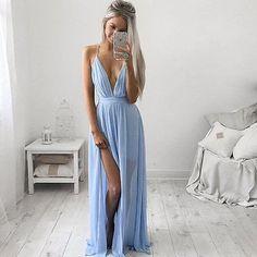 Rio Strap Sky Blue Dress