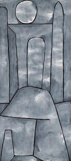 Paul Klee ~ Een hek ~ 1938 ~ Gemengde technieken ~ 44,3 x 60,5 cm. ~ Kunstmuseum, Bern