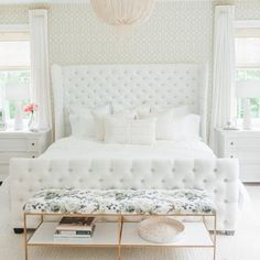 To say we're excited to see this bedroom we helped @monikahibbs design over on the @smpliving blog today would be an understatement!! The bed is a called Monika's Dream bed.. It's a modified version of our Classic Dream bed! ( a little higher and with a footboard) All furniture and decor items you see here can be found on our website 'Get The Look' section. Head over to @smpliving to see all the gorgeous photos taken by @blushwedphotos