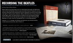 Amazing book with incredible details on the recording equipment and techniques used to record all The Beatles albums. Beatles Albums, The Beatles, Recording Equipment, Good Books, The Incredibles, Amazing, Great Books, Beatles