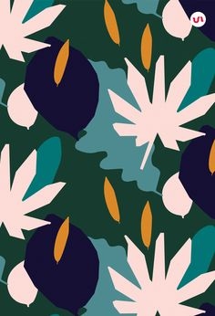 Hand drawn patterns with an exotic, tropical, adventurous feel Plant Illustration, Pattern Illustration, Vector Pattern, Pattern Art, Design Poster, Vector Design, Design Design, Free Design, Design Trends