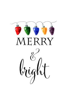 merry and bright free christmas printable