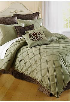 Home Accents® Pintuck Bedding Collection - Sage - Belk.com  possibly