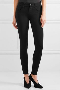 L'Agence - Lou Lou Stretch-ponte Skinny Pants - Black - 27