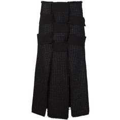 Proenza Schouler Tweed Bandage Skirt ($1,434) ❤ liked on Polyvore featuring skirts, black, high waisted skirts, tweed skirt, bandage skirt, proenza schouler and front slit skirt