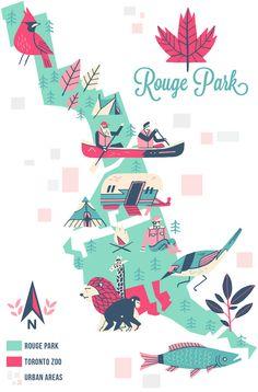 Owen Davey -  Rouge Park, Toronto map