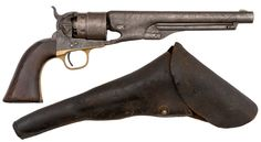Colt Model 1860 Army Revolver with Military Holster - Cowan's Auctions