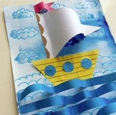 ideas spring art projects for kids preschool classroom The Effective Pictures We Offer You Boat Crafts, Fish Crafts, Spring Art Projects, Projects For Kids, Kindergarten Art, Preschool Crafts, Preschool Classroom, Summer Crafts For Kids, Art For Kids