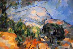 Mount Sainte-Victoire - 1904 - by Paul Cezanne ...............#GT