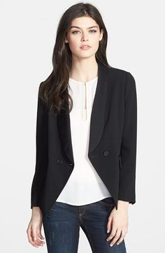 Chelsea28 Satin Lapel Fitted Blazer available at #Nordstrom