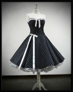 ROCKABILLY KLEID Petticoat Punktekleid 50er 60er Jahre Stil Rockabillymode   eBay