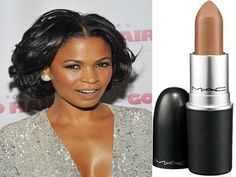 Nude Lipsticks for Brown Skin I wish I had her skin color. I look green next to her. :(