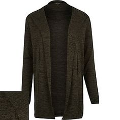 Green marl hooded cardigan