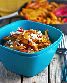 Skinny Fajita Shrimp Pasta: Very easy - used hot enchilada sauce to give it some spice and also subbed greek yogurt for sour cream since that's what I had on hand.  Also added some shredded Mexican cheese.