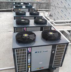 Air Source Heat Pump Installation in Middle School