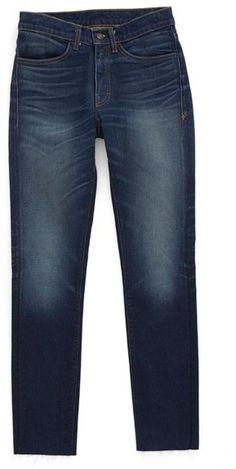 imogene + willie Virginia Frayed Classic Mid Rise Skinny Jeans (Santa Paula)