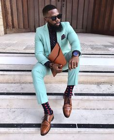 """Live the Life of Your Dreams When you start living the life of your dreams, there will always be obstacles, doubters, mistakes and… Mens Fashion Wear, Suit Fashion, Classic Mens Fashion, Sharp Dressed Man, Well Dressed Men, Dapper Suits, Designer Suits For Men, Moda Casual, African Men Fashion"
