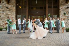 Mint & Purple Bridal Party